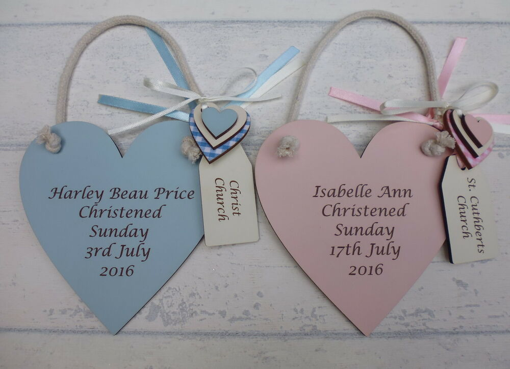 Personalised Engraved Christening Plaque Baby Boy Girl