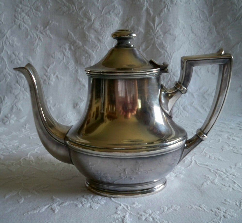 Vintage Wellner Silverplate Teapot Rare Find Free