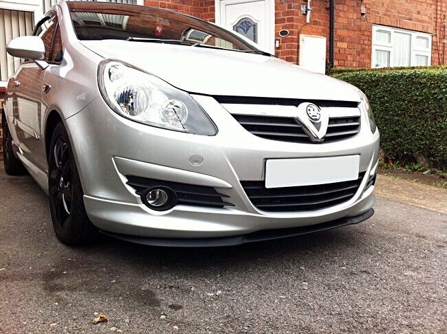 vauxhall opel corsa d mk4 front bumper cup chin spoiler lip splitter valance opc ebay. Black Bedroom Furniture Sets. Home Design Ideas