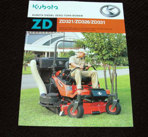 Kubota Zd326 parts List Operators manual on