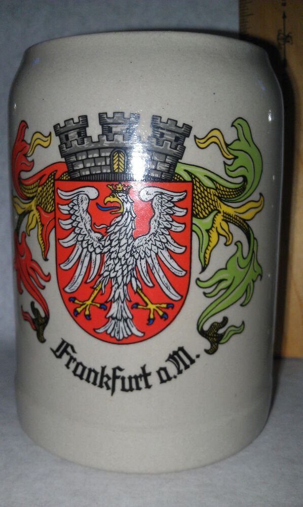 frankfurt germany gerz beer stein mug extra large holds 5 l vintage ebay. Black Bedroom Furniture Sets. Home Design Ideas