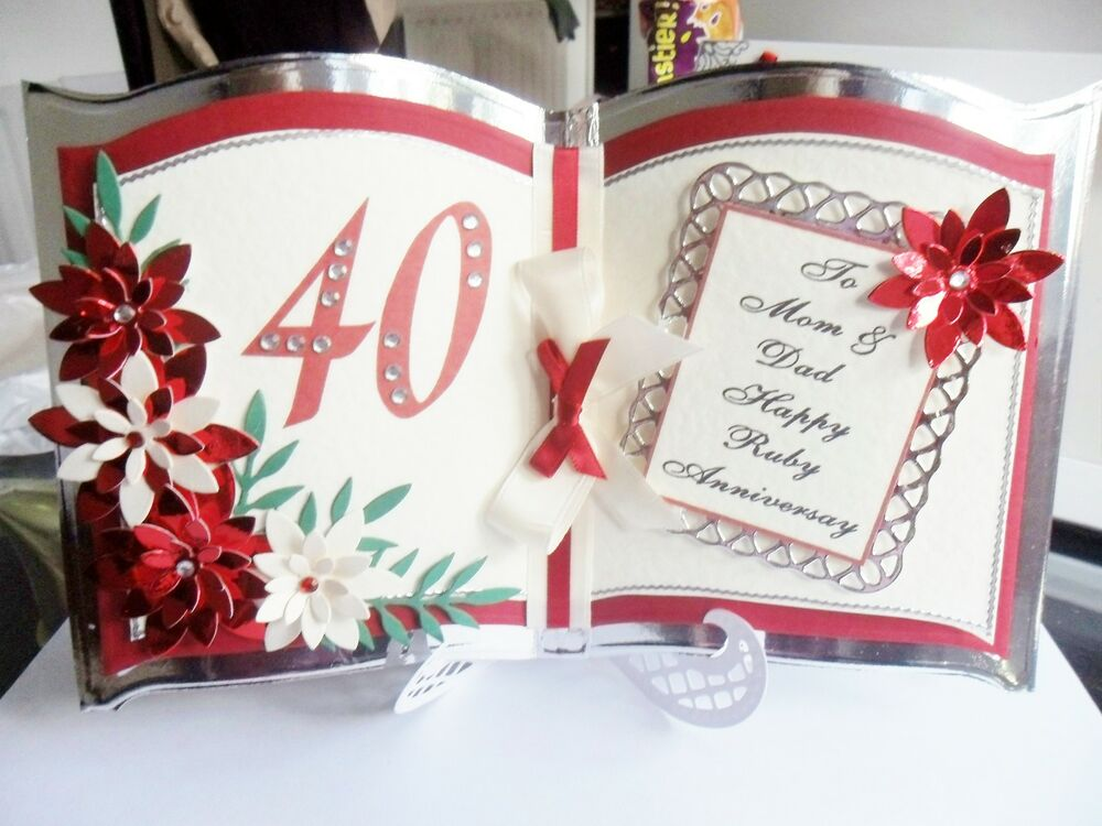 Unusual Ruby Wedding Gifts: Beautiful Personalised Handmade Bookatrix Wedding