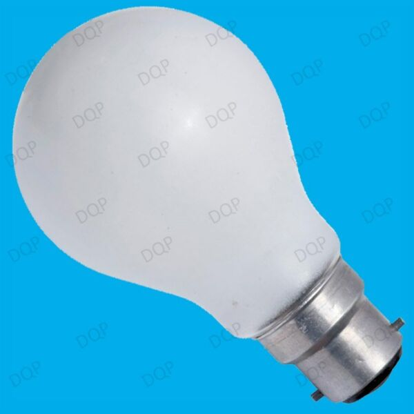 12x 60W INCANDESCENT DIMMABLE PEARL GLS LIGHT BULBS; BC, B22 BAYONET LAMPS