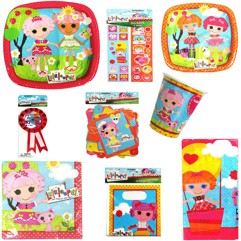 Lalaloopsy Birthday Party: LALALOOPSY Birthday Party SET FOR 8 Kids (43pc)