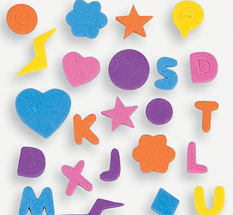 594 foam letters alphabet stickers shapes hearts stars flowers circles abcraft