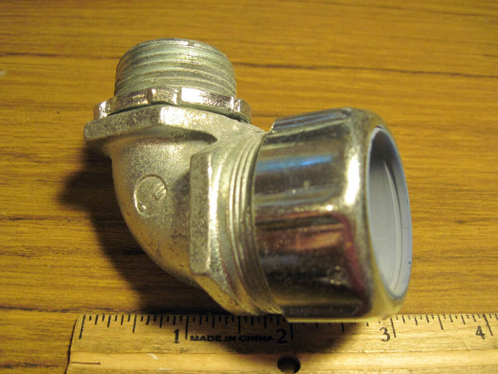 Malleable iron quot degree angle liquidtight connector