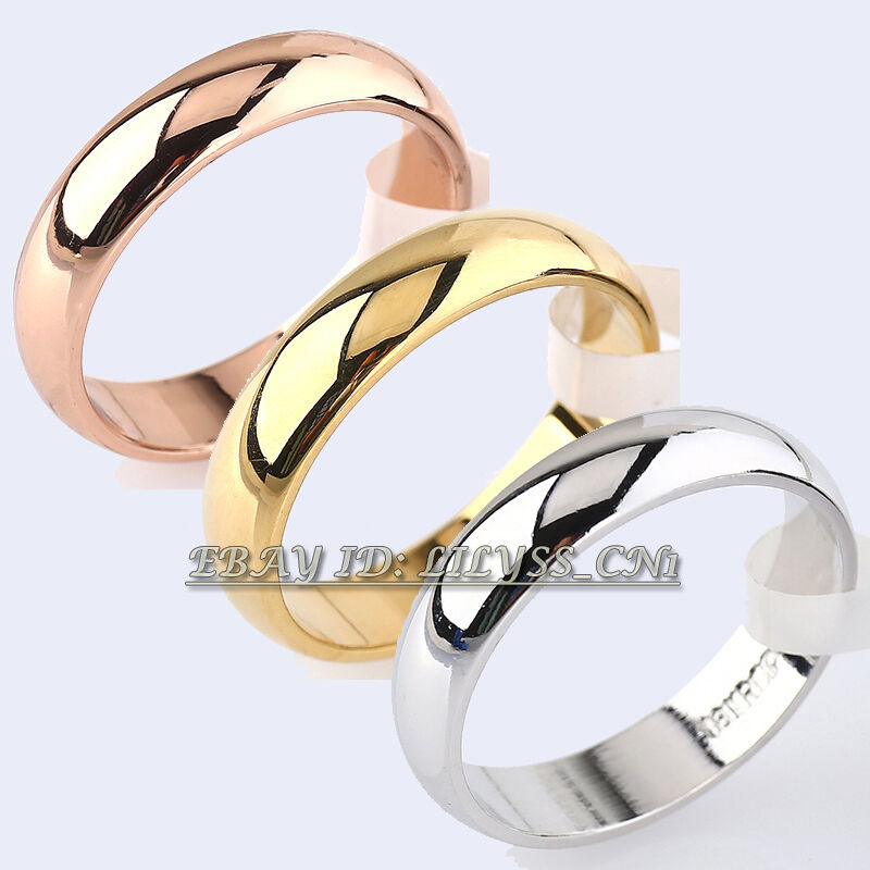 s s 4 5mm width plain band ring engagement