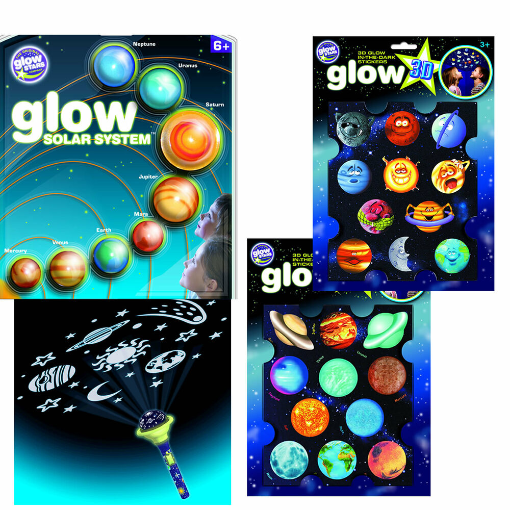 Solar System And Planet Toys : Solar system hanging or stickers d planets torch space