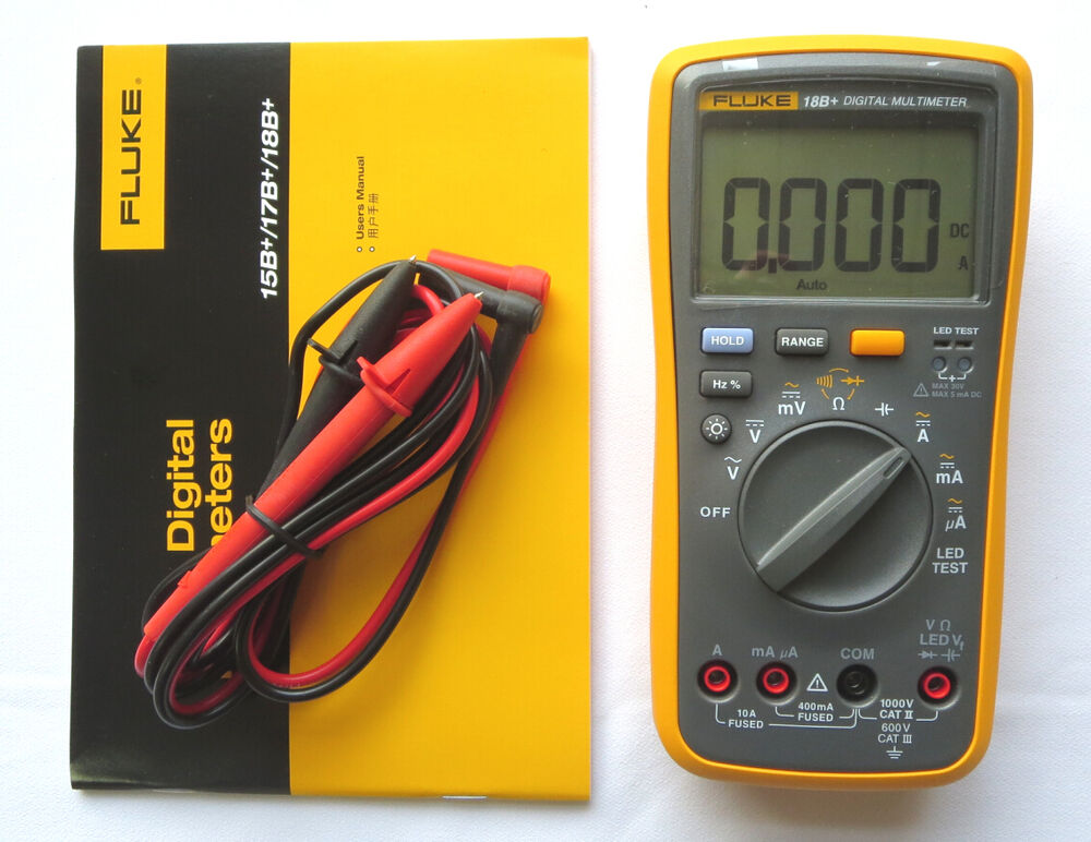 Fluke Voltmeter Tester : Fluke b led test digital multimeter ac dc ohm ebay