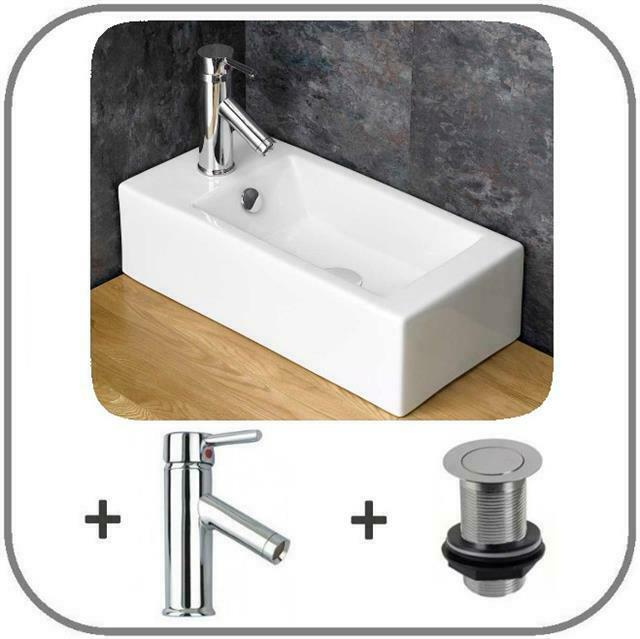 50cm x en suite small ceramic bathroom sink basin. Black Bedroom Furniture Sets. Home Design Ideas