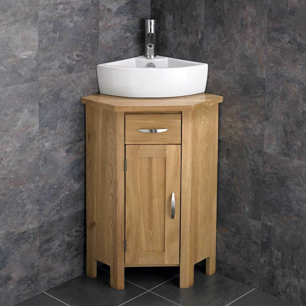 corner bathroom sink ohio en suite corner bathroom cabinet oak vanity unit 12531