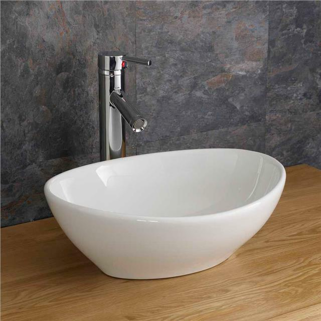 ... Ceramic Contemporary Oval White Shaped Bowl Countertop Sink eBay