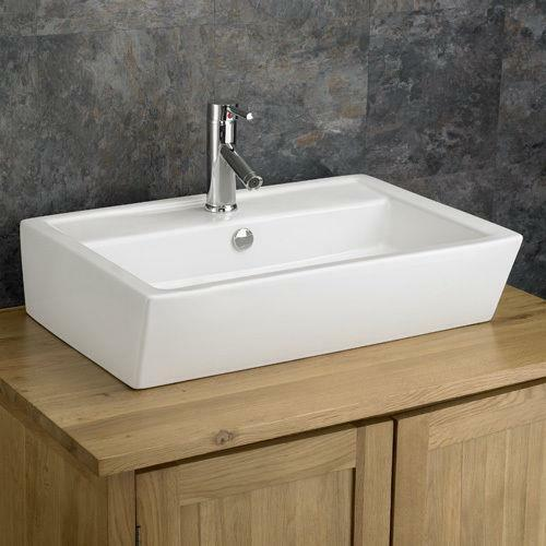 63cm X Countertop Rectangular Ceramic Modern Washbasin Bathroom Sink Ebay