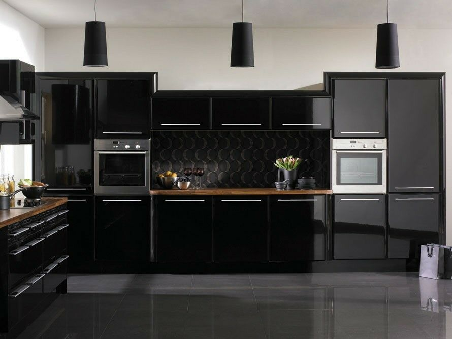 Glossy fablon kitchen units cupboard doors draws self for Cuisine kungsbacka