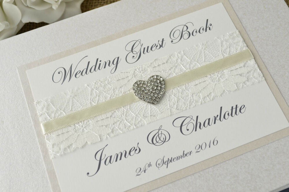Ivory Personalised Wedding Guest Book