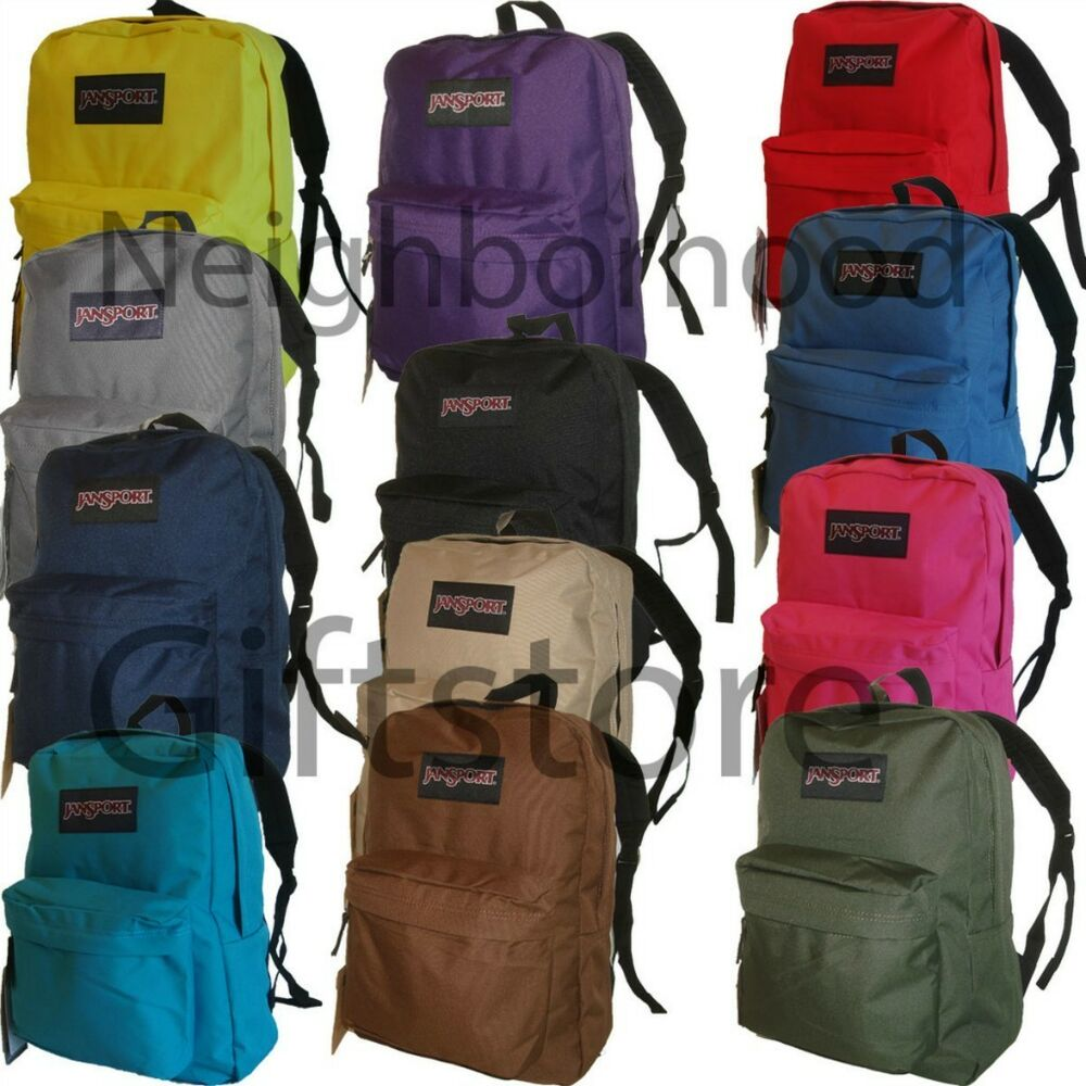 Plain Black Jansport Backpack - Crazy Backpacks