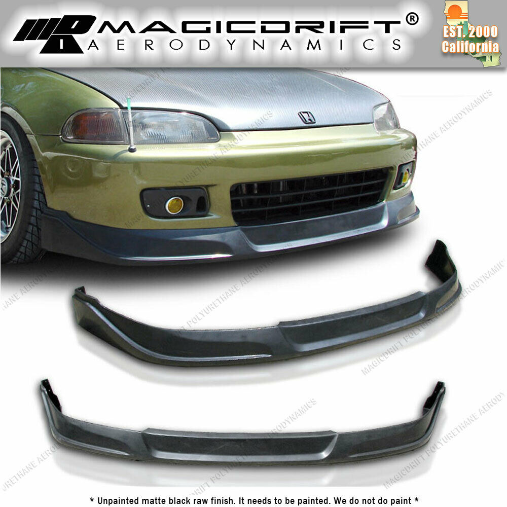 92-95 Honda Civic Coupe TC JDM Front & Rear Bumper Lips