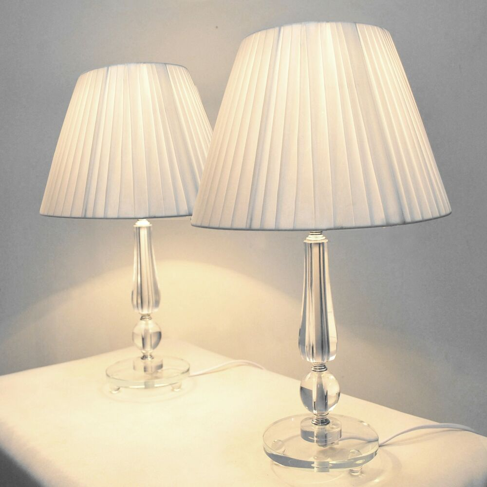 Pair Of New Bedside Table Designer Modern Lamps Ebay