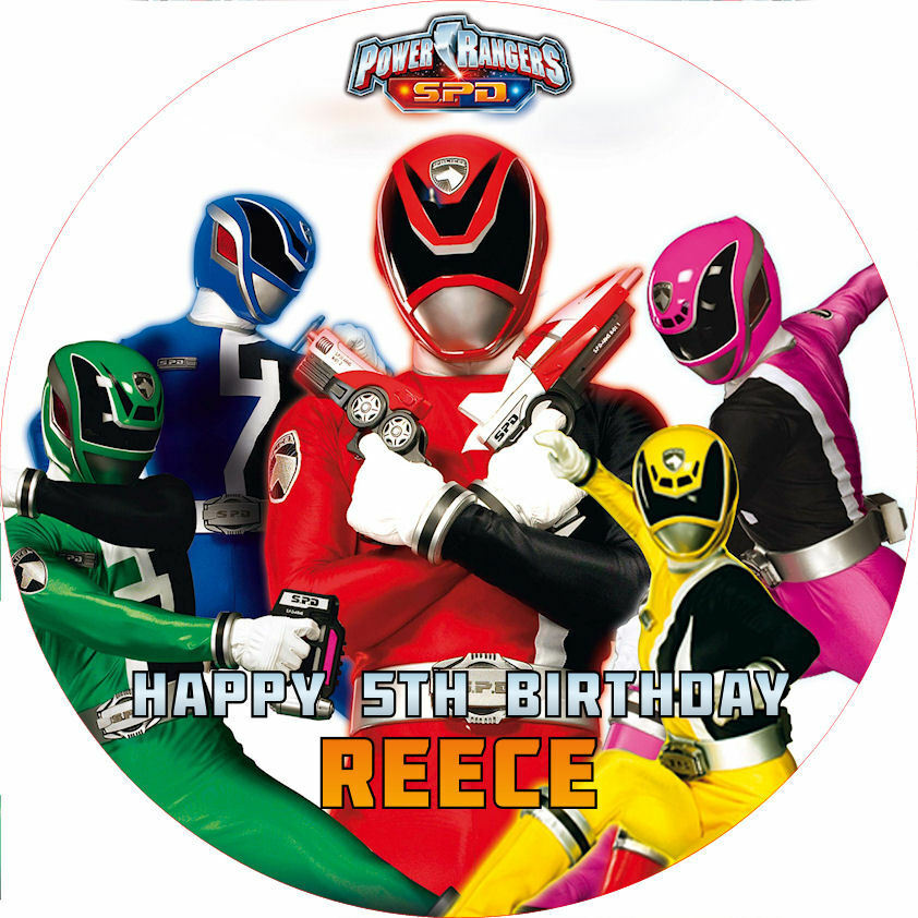 Power Rangers Spd 7 5 Quot Round Cake Topper Rice Paper Icing