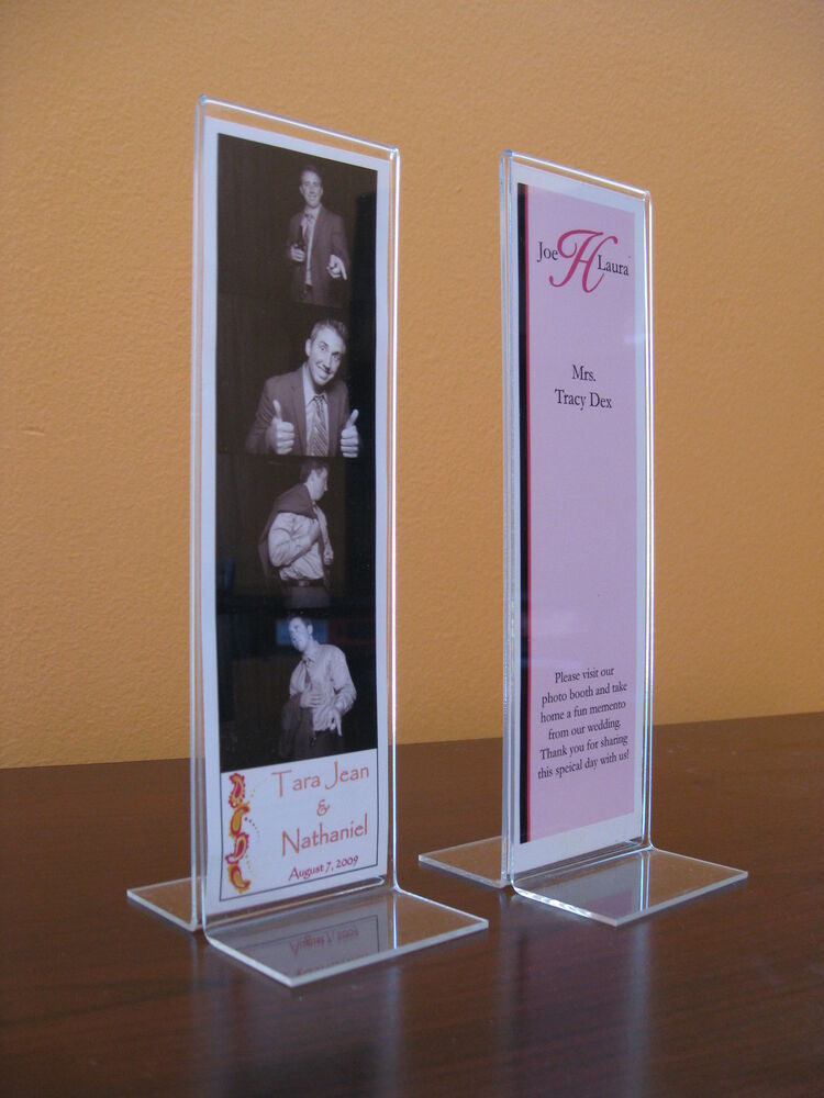 Photo Booth Frame 2.25x6 acrylic picture T frame 2x6 60 pieces 5 ...
