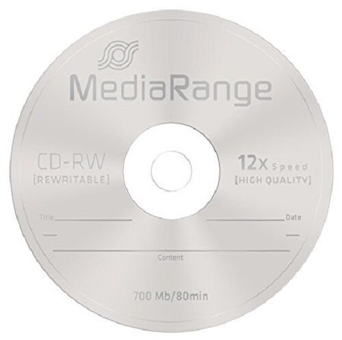 10 mediarange cd rw 12x rewritable blank discs cd rw high ultra burn speed ebay. Black Bedroom Furniture Sets. Home Design Ideas