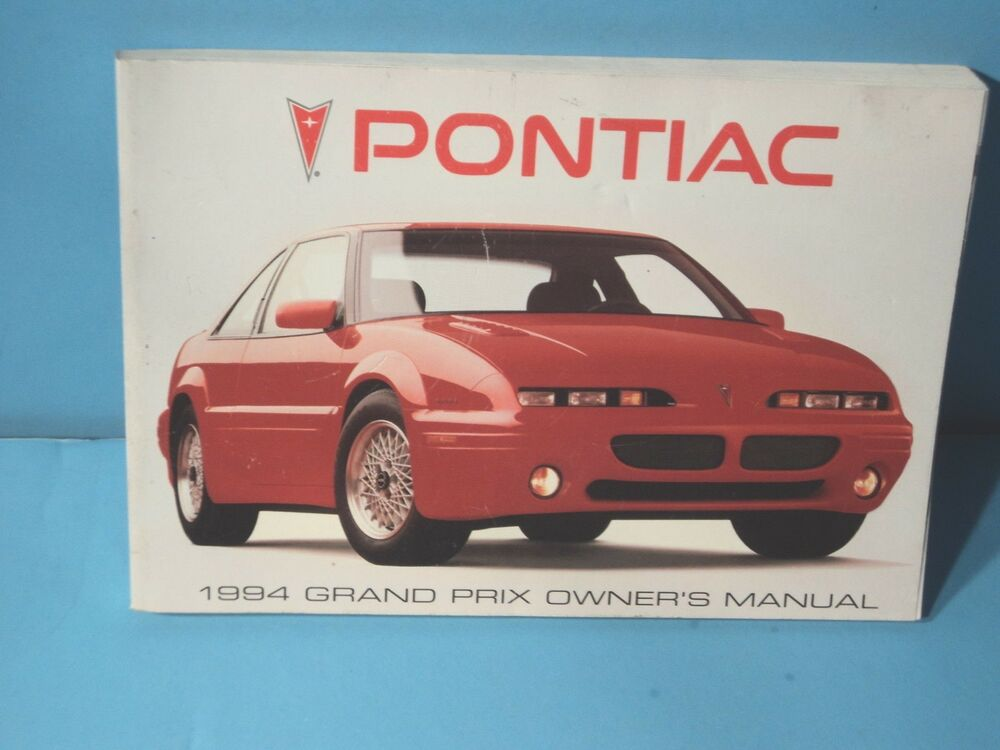 Service Manual Manual Repair Free 1994 Pontiac Grand Prix