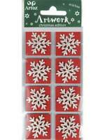 Artoz Red Snowflake Craft Embellishment Stickers Card Making Scrapbooking