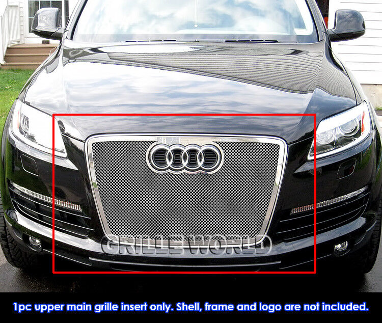 for 07 09 audi q7 stainless steel mesh grille insert ebay. Black Bedroom Furniture Sets. Home Design Ideas
