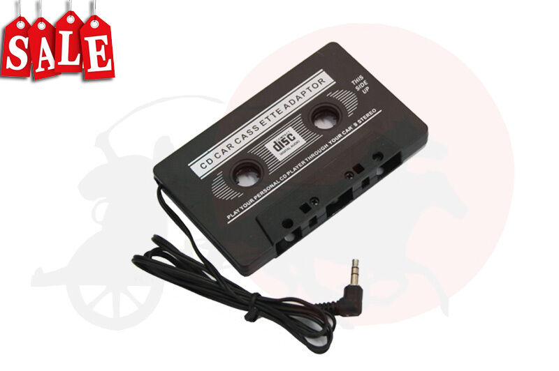 audio car cassette tape adapter 3 5 mm for iphone ipod mp3. Black Bedroom Furniture Sets. Home Design Ideas