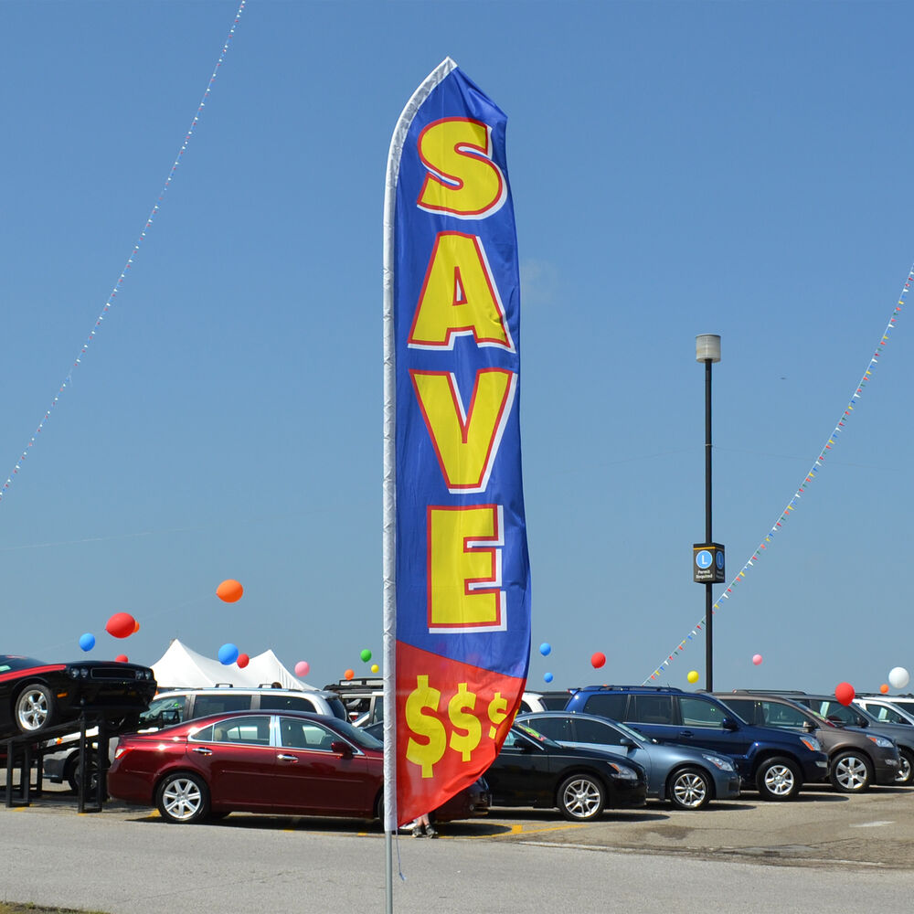 Dealers: Save $$$$ Swooper Feather Flag For Auto Dealers