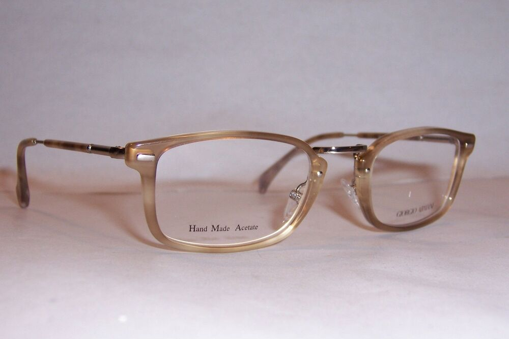 Giorgio Armani Glasses Frames Ga 164 Lk9 : NEW Giorgio Armani EYEGLASSES GA 899 V53 BROWN BEIGE 50mm ...