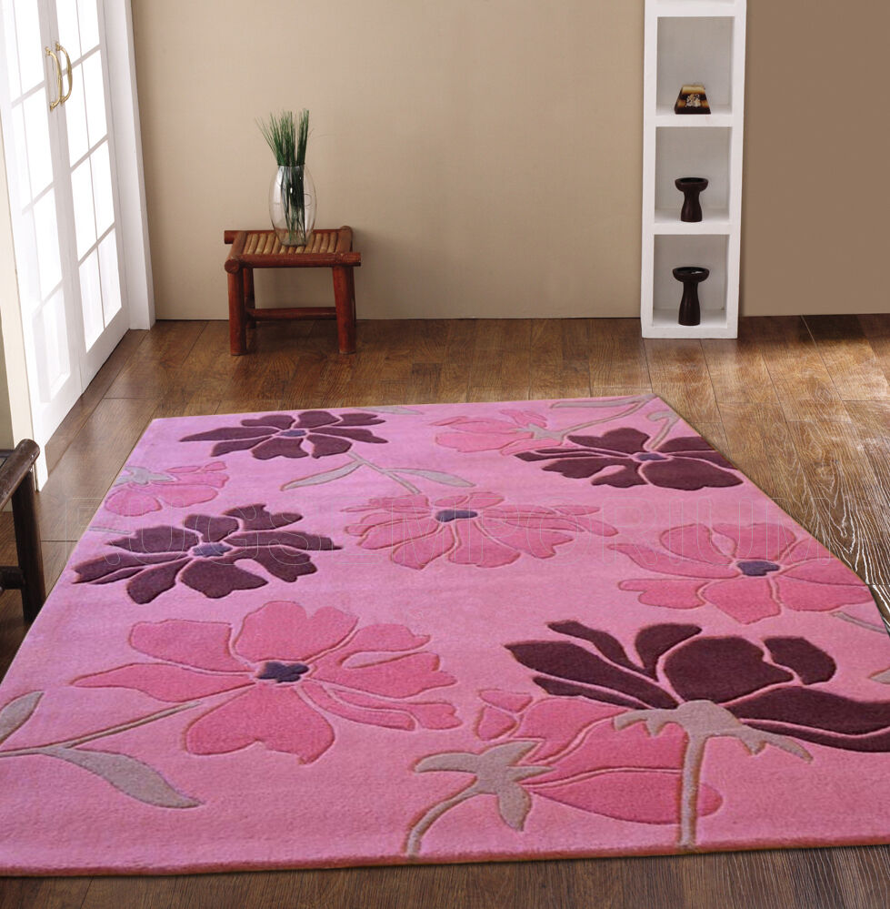 Small Large Pink Rug Cerise Runners Sparkle Modern Thick: SMALL MEDIUM LARGE EXTRA LARGE THICK MODERN SCATTERED
