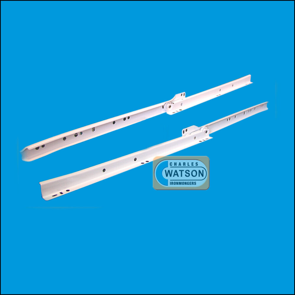 Kitchen Cabinet Drawer Replacements: WHITE Roller Drawer Runners Kitchen Bedroom Roller