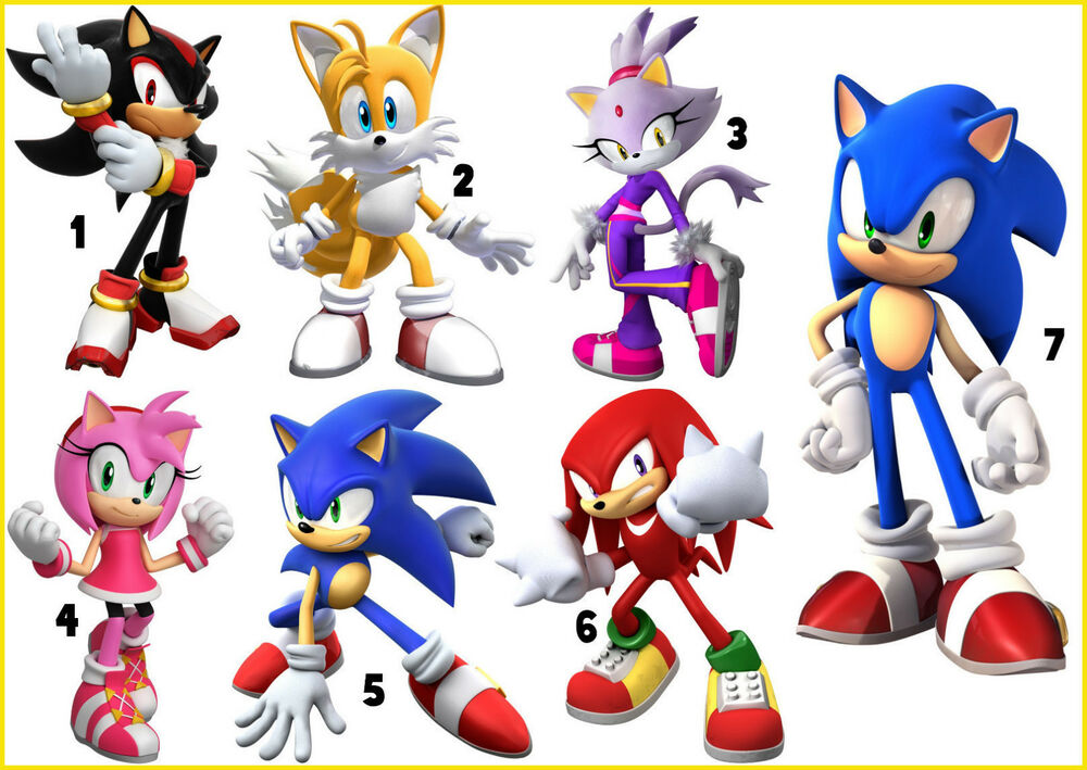 Sticker wall deco decall sonic the hedgehog tails shadow amy rose lot si ebay - Sonic wall decals ...
