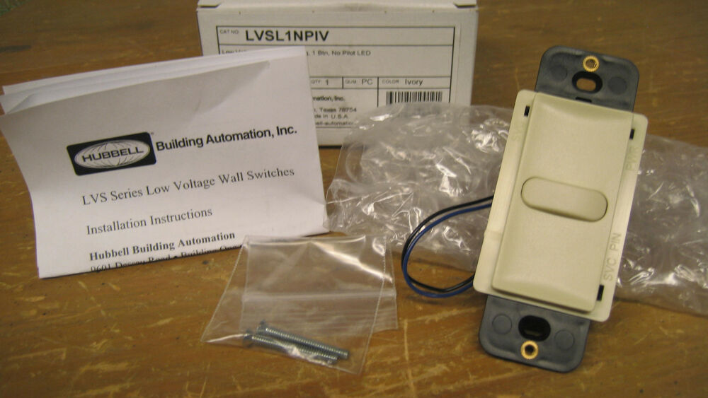 Low Voltage Switch Box : Hubbell low voltage wall switch lvsl npiv ivory ebay