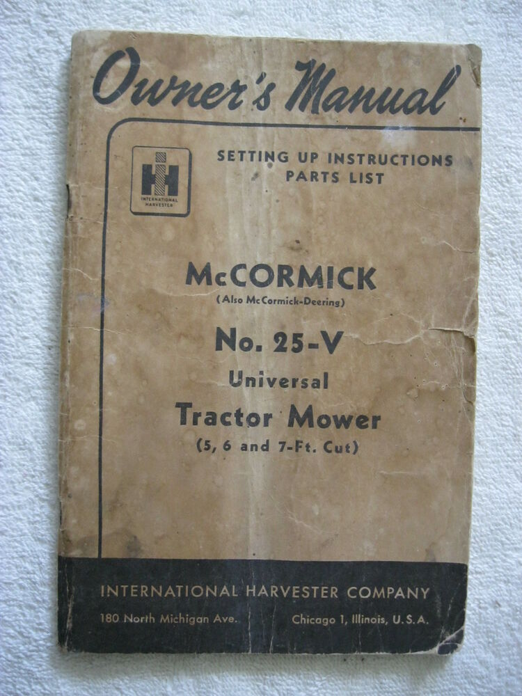 International sickle mower manual