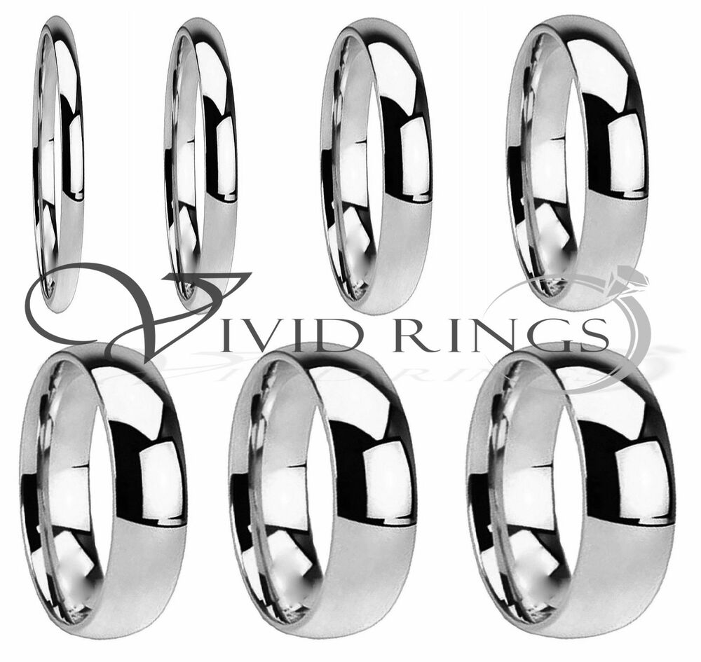 Mens & Womans Stainless Steel Wedding Band High Polish