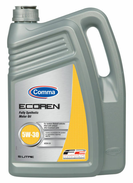 comma ecoren 5w 30 low saps fully synthetic motor engine
