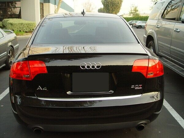 audi a4 s4 rs4 b7 8e rear boot trunk spoiler lip wing. Black Bedroom Furniture Sets. Home Design Ideas