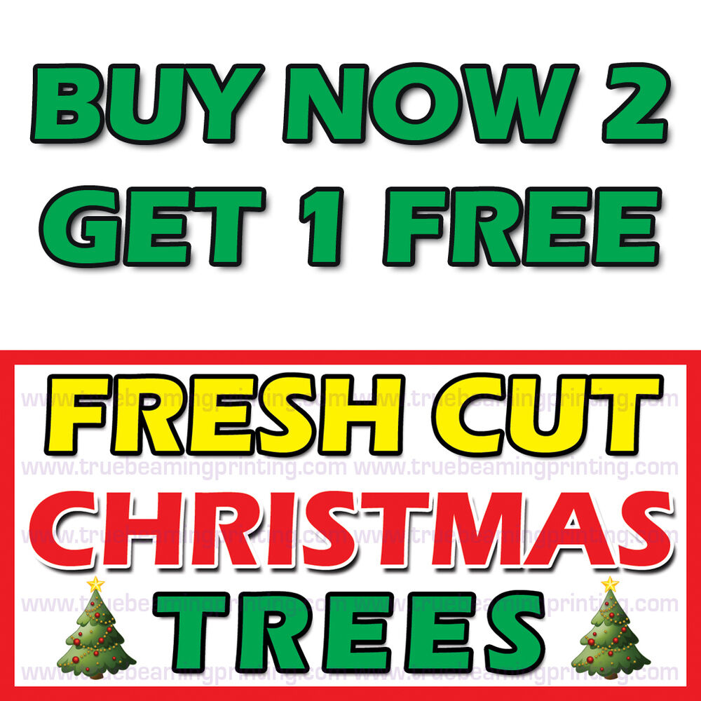 3ftx6ft Fresh Cut Christmas Trees Banner Sign The