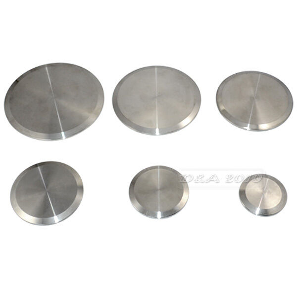 Stainless steel sanitary end cap for quot tri clamp