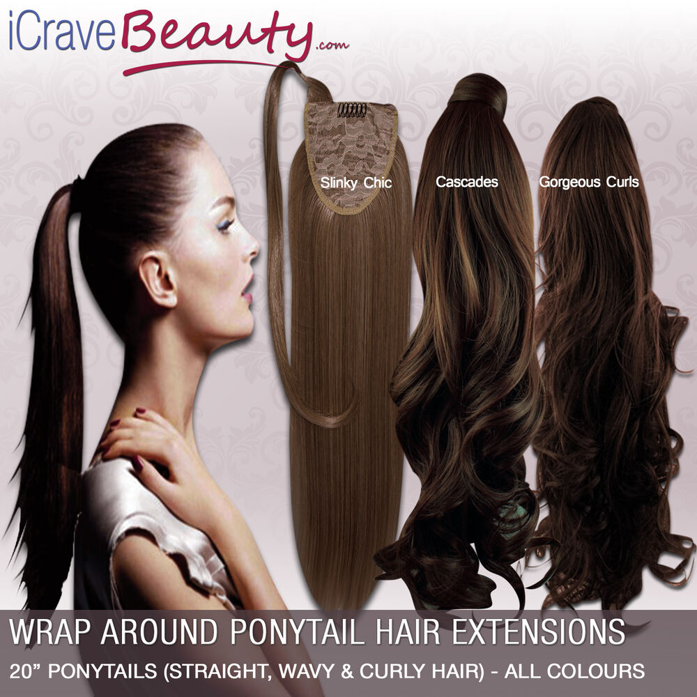 Clip In Ponytail Wrap Around Ponytail Hair Extensions Straight