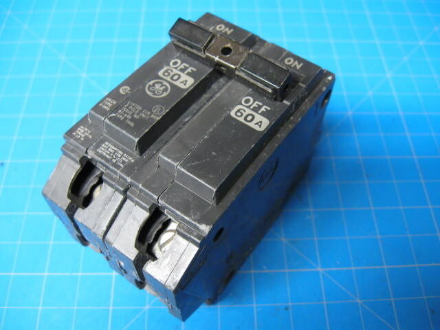 60 Amp General Electric Double Pole Ge 2 Pole Breaker Hacr