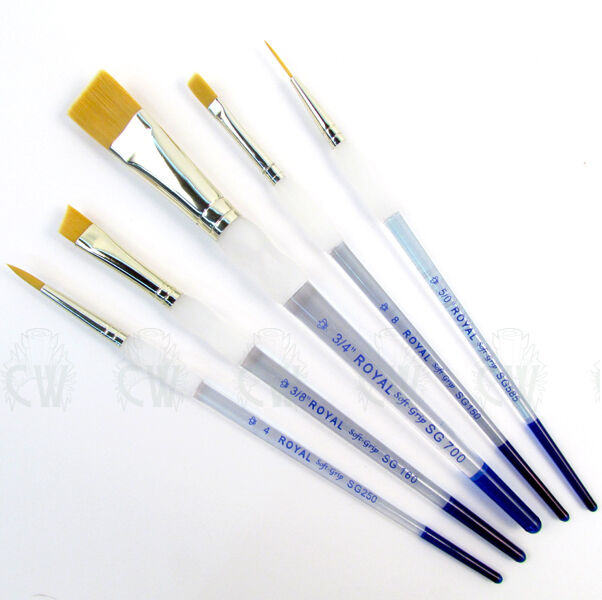royal soft grip 5 brush set artists beginners selection