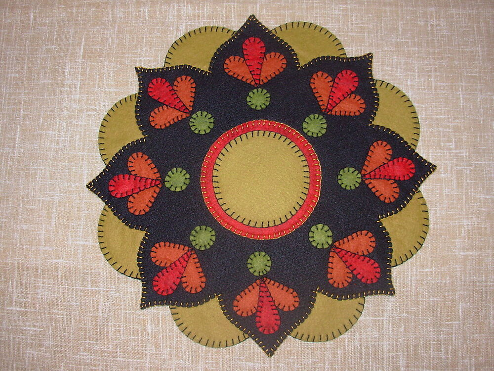 Sunset Flower Tablemat Penny Rug Pattern 14 Quot Dia Wool