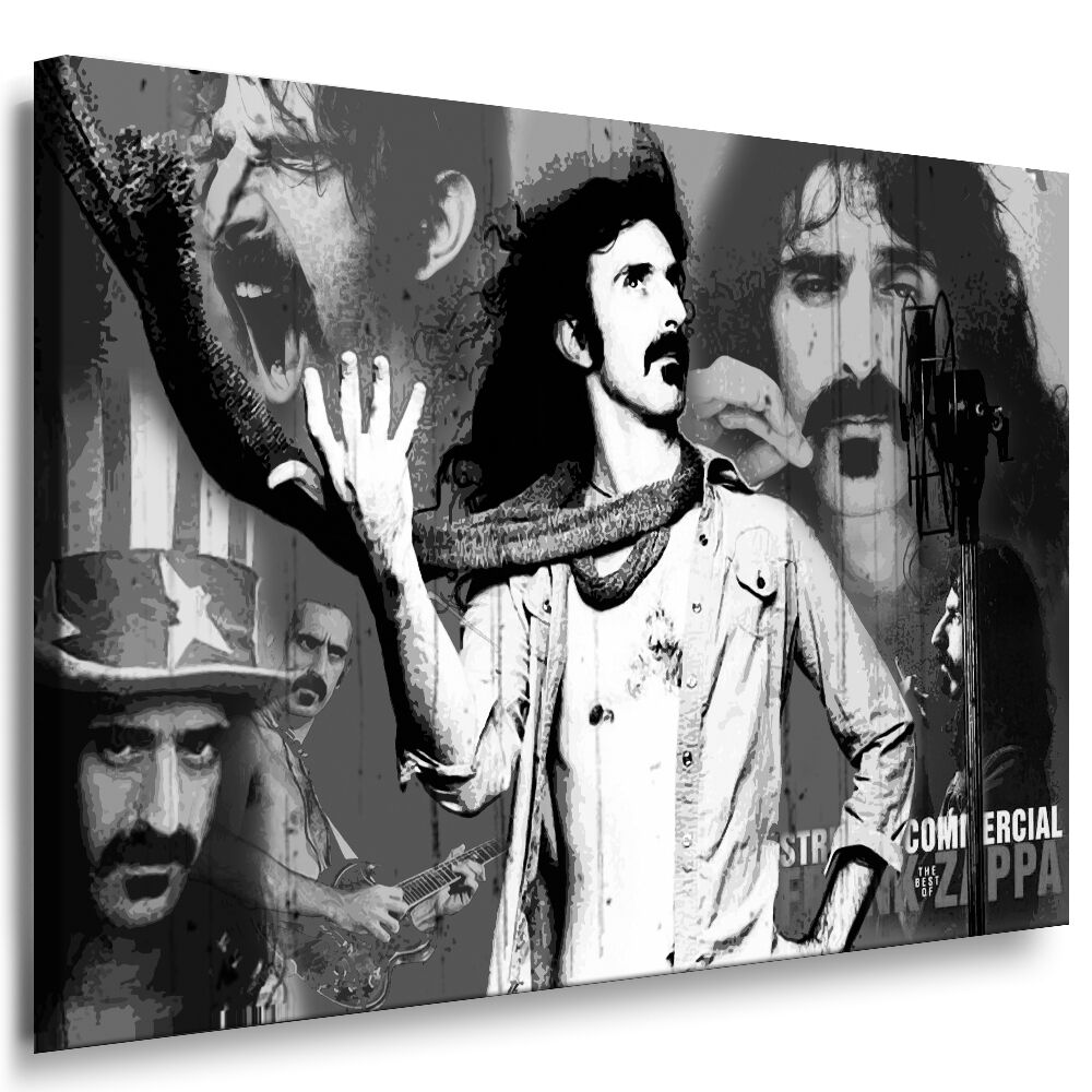 bild auf leinwand frank zappa kunstdruck wandbild gem lde. Black Bedroom Furniture Sets. Home Design Ideas