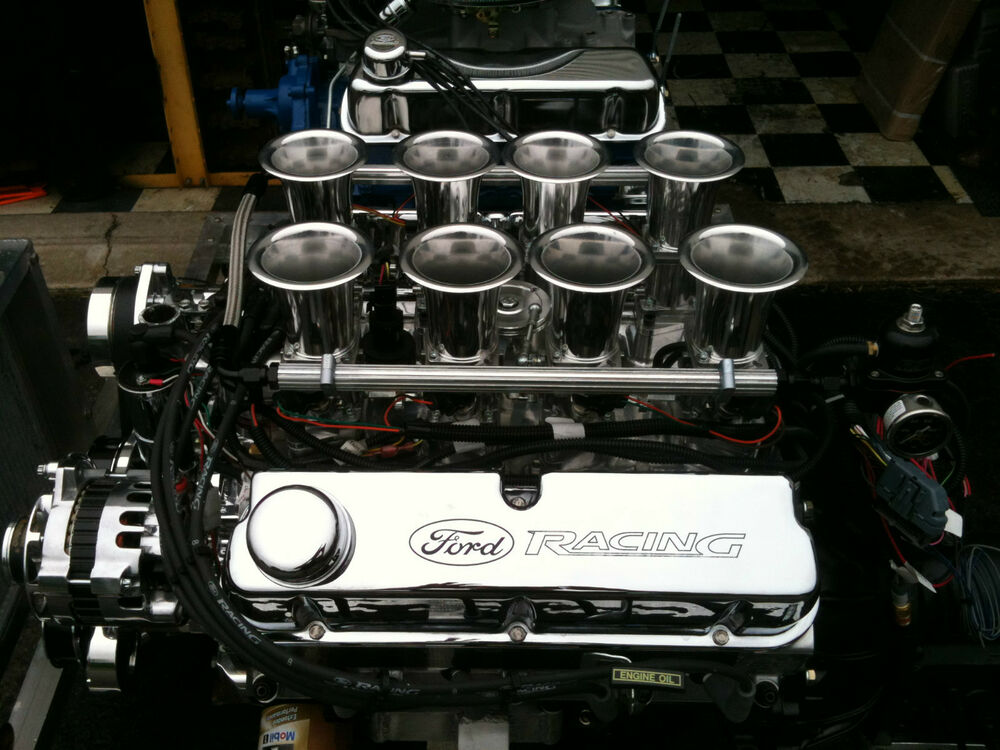 ALL ALUMINUM STACK    FUEL       INJECTED    FORD 427CI 351    WINDSOR       ENGINE    525HP   eBay
