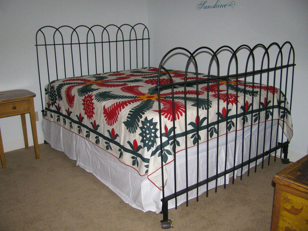Antique Hairpin Wrought Iron Fence Queen Bed Ebay
