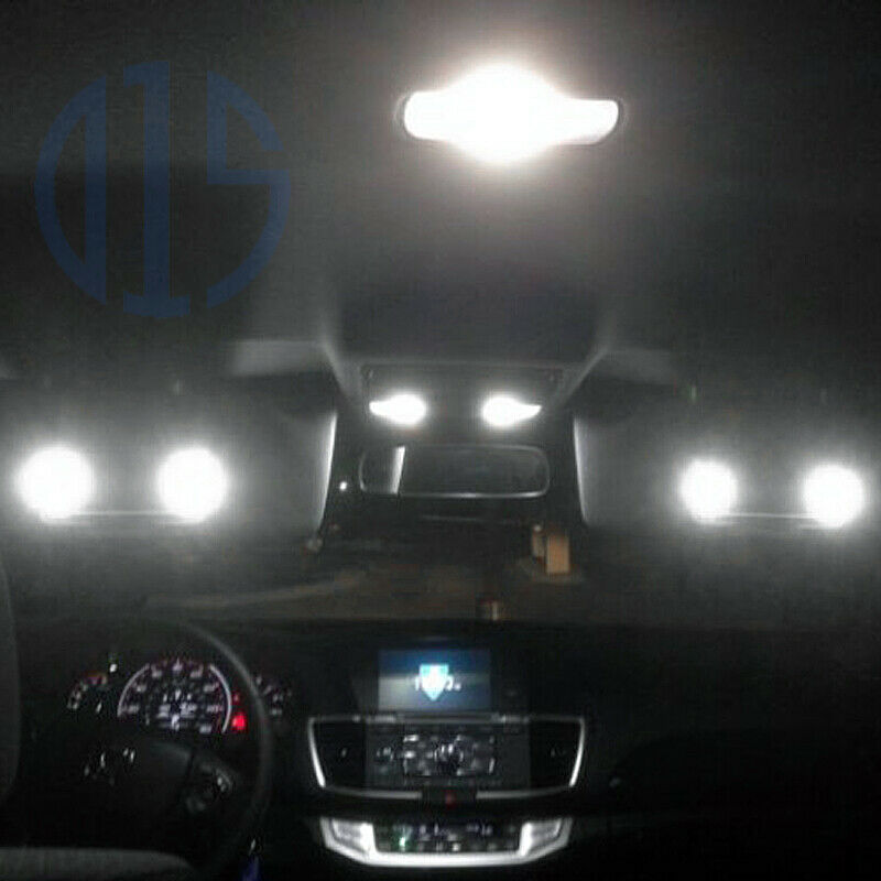 12 x white led interior bulbs license plate lights for - Honda accord interior light bulb replacement ...