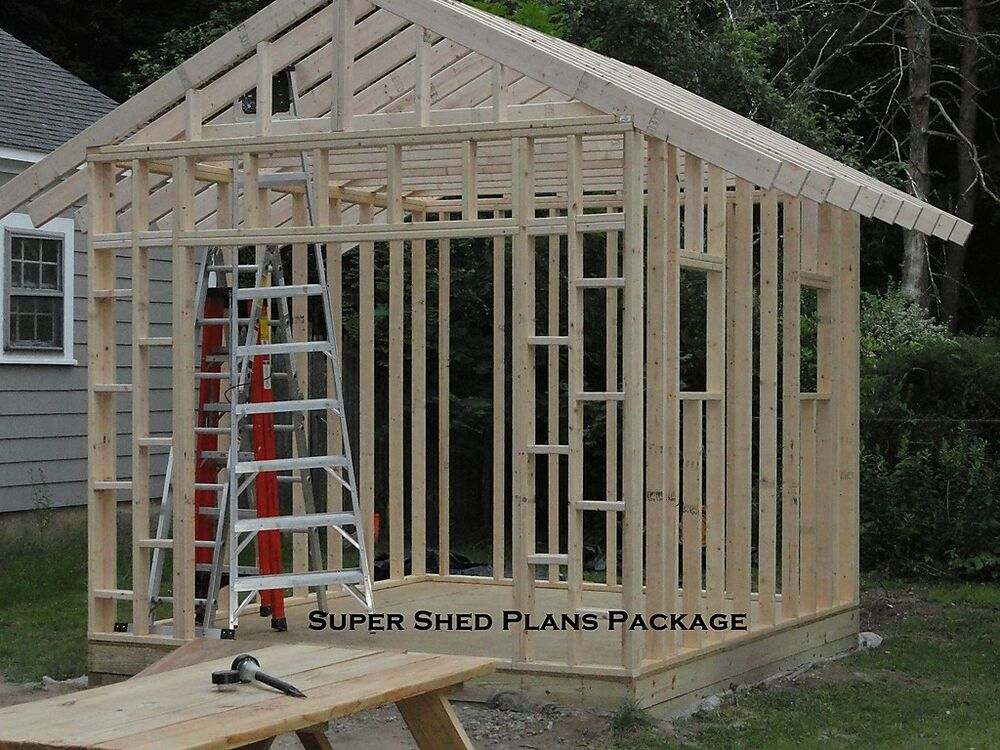 Custom design shed plans 6x8 gable storage diy for Garden shed 10x10